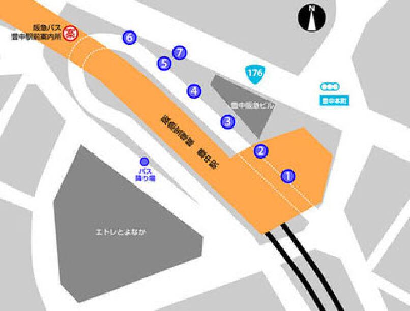 豊中駅からお越しの方のMAP